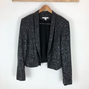 Kenneth Cole Cropped Sequin Blazer